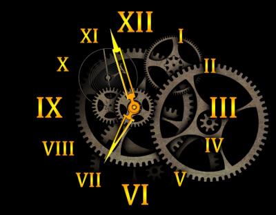 Заставка (скринсейвер) механические часы 2.1