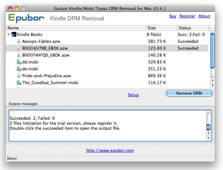 Kindle DRM Removal скачать на Mac OS бесплатно