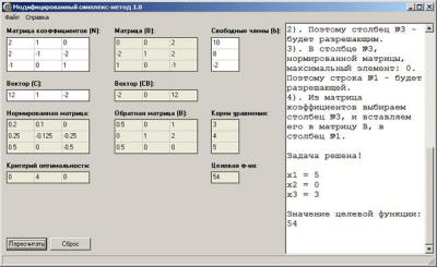 Модифицированный симплекс-метод 1.0