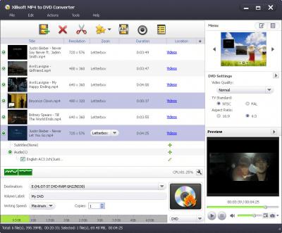 Xilisoft MP4 to DVD Converter 7.1.3.20121219