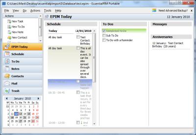 EssentialPIM Free Portable 8.05