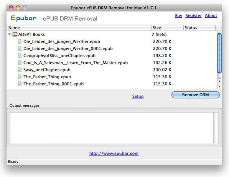 Загрузить ePUB DRM Removal 2 0 9 12 (официальная версия, не торрент