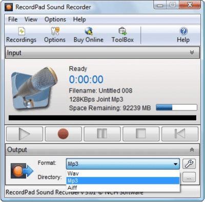 RecordPad Sound Recording 5.35