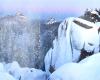 Скачать Заставка заповедник Красноярские столбы зимой