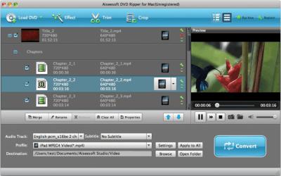 Aiseesoft DVD Ripper for Mac Standard 6.3.20