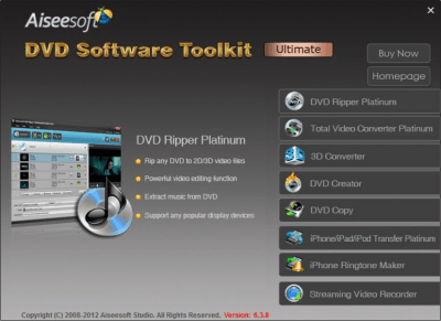 Aiseesoft DVD Software Toolkit Ultimate 7.2.52
