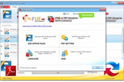 FoxPDF HTML to PDF Converter 3.0