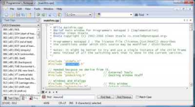 Programmers Notepad 2.4.2