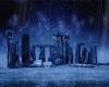 Скачать Заставка (скринсейвер) ночной Стоунхендж (Stonehenge)