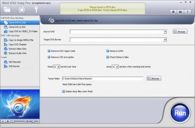 WinX DVD Copy Pro 3.9.0