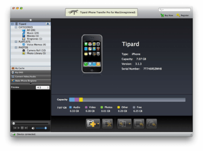 Tipard iPhone Transfer Pro for Mac Standard 6.1.6
