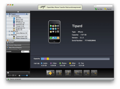 Tipard iPhone Transfer Pro for Mac Platinum 6.1.6