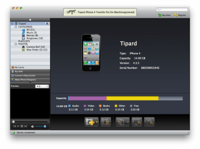 Tipard iPhone 4 Transfer Pro for Mac Standard 6.1.6