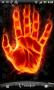 Скачать Горящая рука Живые обои