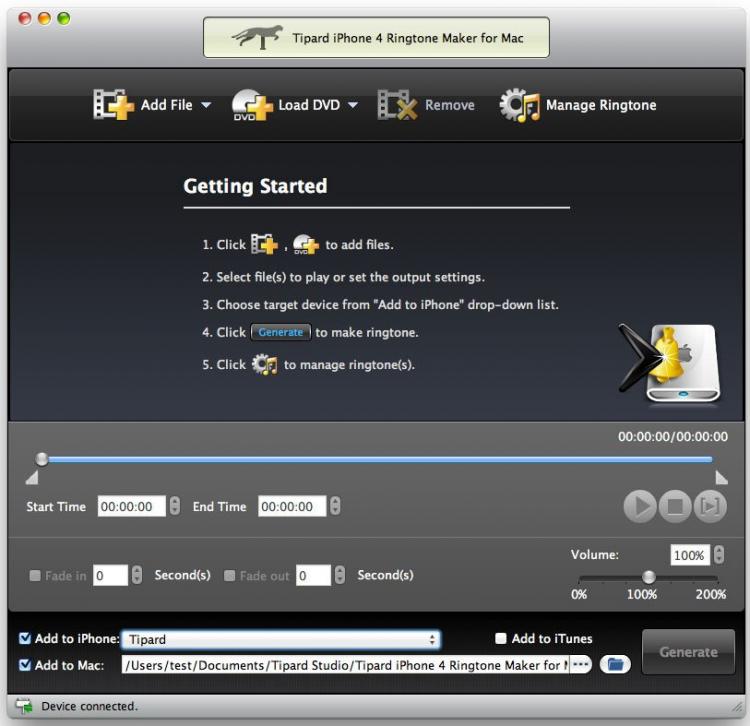 Скачать tipard iphone 4 ringtone maker 6. 1. 6 для mac os бесплатно.