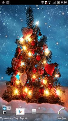 Новогодняя елка Живые обои 2.0