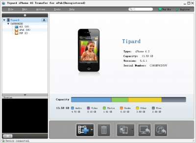 Tipard iPhone 4S Transfer for ePub 6.1.10