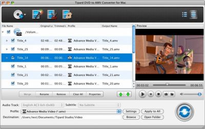 Tipard DVD to AMV Converter for Mac 3.6.26