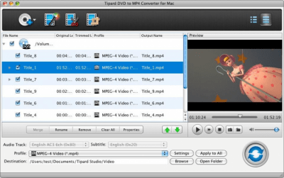 Tipard DVD to MP4 Converter for Mac 3.6.26