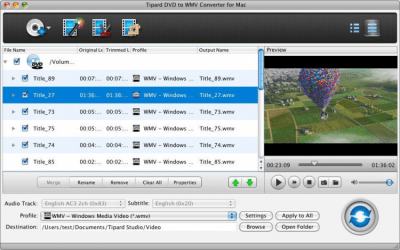 Tipard DVD to WMV Converter for Mac 3.6.26
