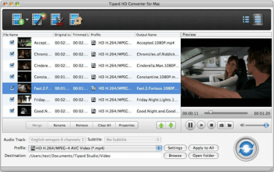 Tipard HD Converter for Mac 3.6.30