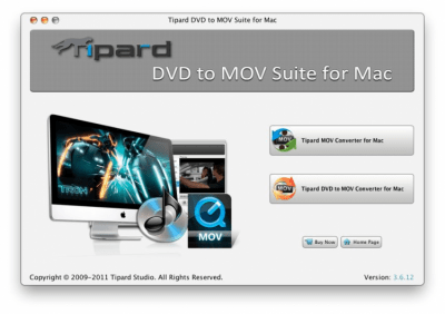 Tipard DVD to MOV Suite for Mac 3.6.32