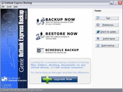 Outlook Express Backup Version 6.5