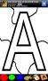 Скачать Раскраска для детей - алфавит