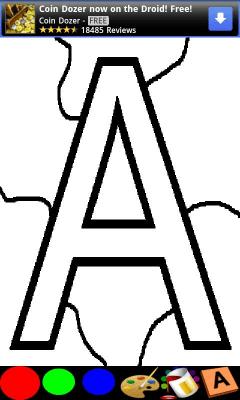 Раскраска для детей - алфавит 1.0.0.36