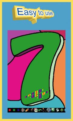 Раскраска для детей - Цифры 1.0.0.25