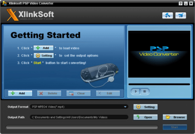 Xlinksoft PSP Video Converter 2011.4.25
