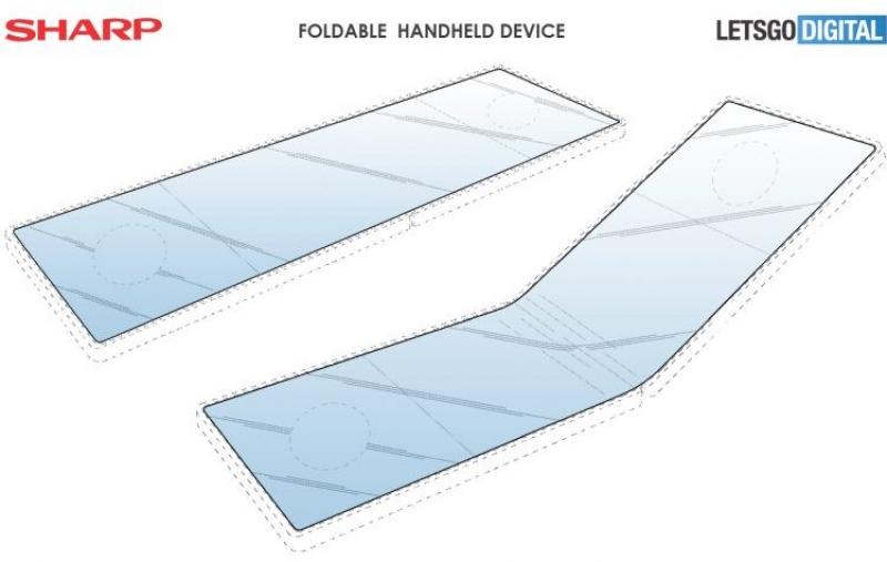 Складной игровой смартфон Sharp появился на качественных рендерах